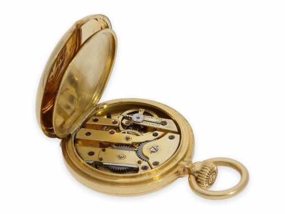 Pocket watch: the smallest known to us, Patek Philippe's half savonnette, with Gold/enamel case, No. 31335, CA. 1870 - photo 8