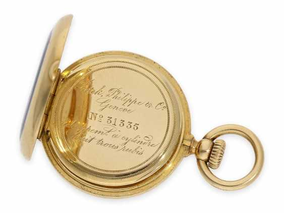 Pocket watch: the smallest known to us, Patek Philippe's half savonnette, with Gold/enamel case, No. 31335, CA. 1870 - photo 9