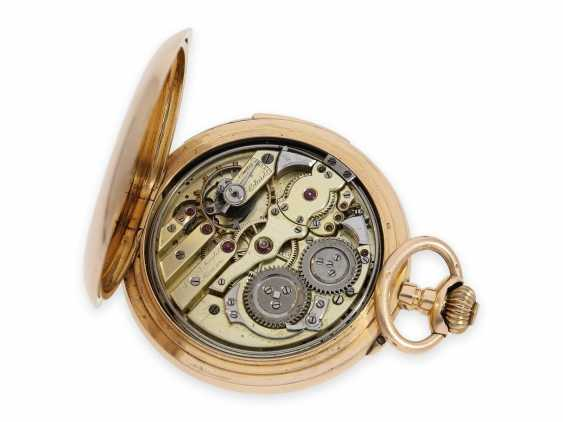 Pocket watch: large, very fine precision pocket watch with minute-repeater, 18K pink gold, C. E. Lardet Fleurier, No. 5432, calibre Le Coultre, CA. 1900 - photo 2