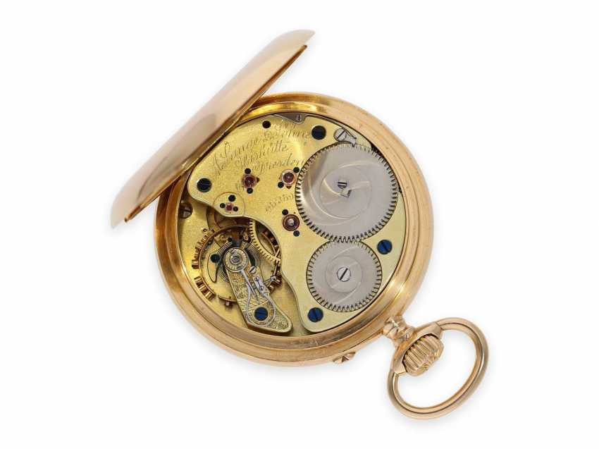 Pocket watch: heavy and large red-gold A. Lange & Söhne pocket watch with the rare calibre 45, quality 1A, CA. 1905 with the master excerpt from the book - photo 2