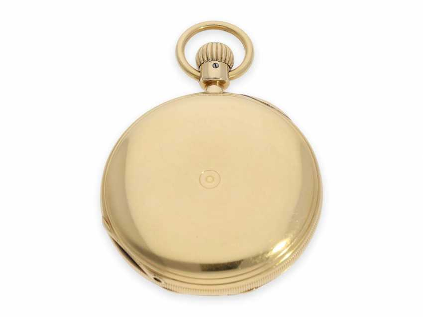 Pocket watch: very early, severe, A. Lange, Dresden gold savonnette best quality 1A, No. 7294 of 1870, with the master excerpt from the book - photo 6