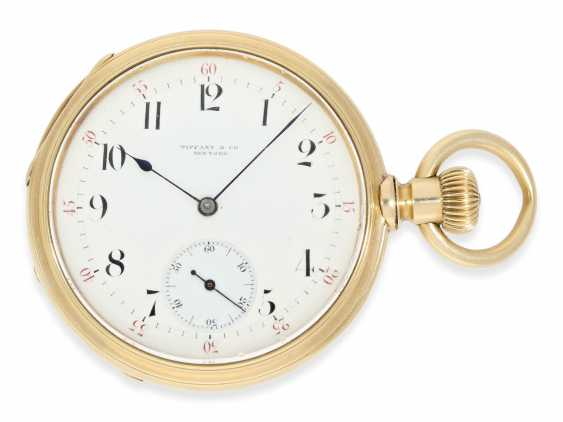 Pocket watch: very early and rare A. Lange & sons pocket watch best quality 1A, delivered to Tiffany New York No. 7688, CA. 1870, with the master excerpt from the book - photo 1