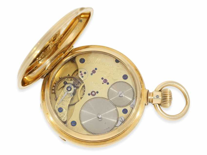 Pocket watch: very early and rare A. Lange & sons pocket watch best quality 1A, delivered to Tiffany New York No. 7688, CA. 1870, with the master excerpt from the book - photo 2