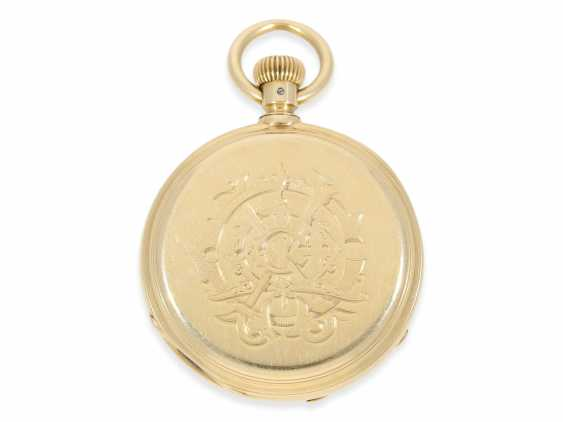 Pocket watch: very early and rare A. Lange & sons pocket watch best quality 1A, delivered to Tiffany New York No. 7688, CA. 1870, with the master excerpt from the book - photo 4