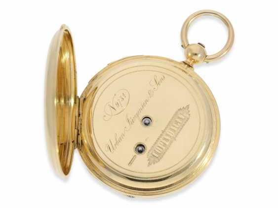 Pocket watch: rare and interesting early gold savonnette with Repetition, Urban Jürgensen & Sons, Copenhagen No. 9731, CA. 1870 - photo 5