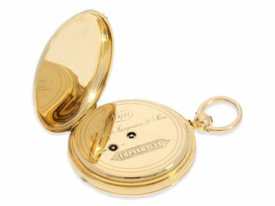 Pocket watch: rare and interesting early gold savonnette with Repetition, Urban Jürgensen & Sons, Copenhagen No. 9731, CA. 1870 - photo 6
