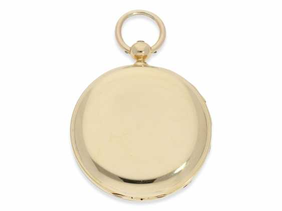 Pocket watch: rare and interesting early gold savonnette with Repetition, Urban Jürgensen & Sons, Copenhagen No. 9731, CA. 1870 - photo 9