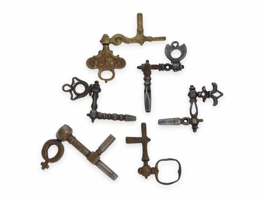 """Watch key vintage very rare spindle-watches-crank key, around 1700, the so-called """"Cranks"""" - photo 1"""
