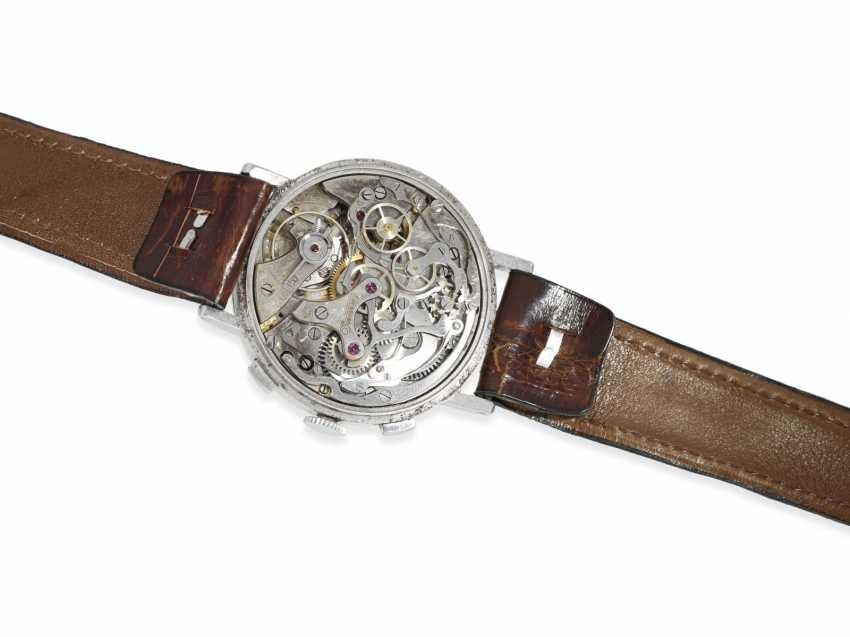 """Watch: very rare Eberhard """"oversize"""" special Chronograph in stainless steel, approx. 40mm!, CA. 1945 - photo 2"""
