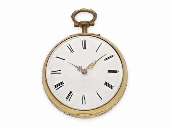 Pocket watch: rare, interesting clock watch with quarter hour self strike, Daniel De St. Leu of London No. 17958, for the Ottoman market, probably around 1800 - photo 3