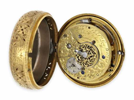 Pocket watch: rare, interesting clock watch with quarter hour self strike, Daniel De St. Leu of London No. 17958, for the Ottoman market, probably around 1800 - photo 4