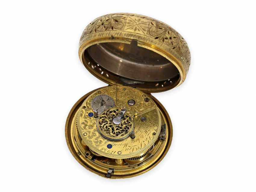 Pocket watch: rare, interesting clock watch with quarter hour self strike, Daniel De St. Leu of London No. 17958, for the Ottoman market, probably around 1800 - photo 5