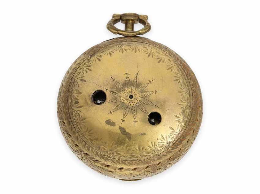 Pocket watch: rare, interesting clock watch with quarter hour self strike, Daniel De St. Leu of London No. 17958, for the Ottoman market, probably around 1800 - photo 7