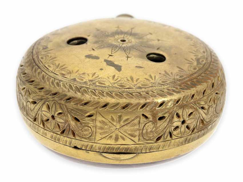 Pocket watch: rare, interesting clock watch with quarter hour self strike, Daniel De St. Leu of London No. 17958, for the Ottoman market, probably around 1800 - photo 8