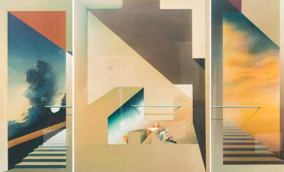 "FÖLLER, PETER (born 1945), triptych ""tide"", - photo 1"