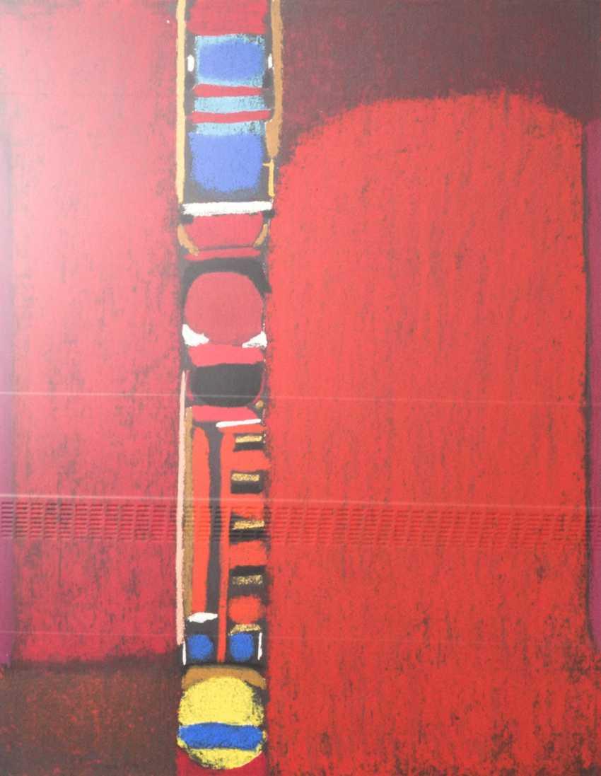 "ACKERMANN, MAX (Berlin 1887-1975 subitem tight Hardt, Prof.), ""composition in red"", - photo 1"