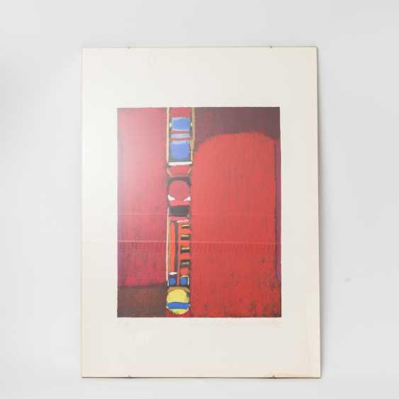 "ACKERMANN, MAX (Berlin 1887-1975 subitem tight Hardt, Prof.), ""composition in red"", - photo 2"