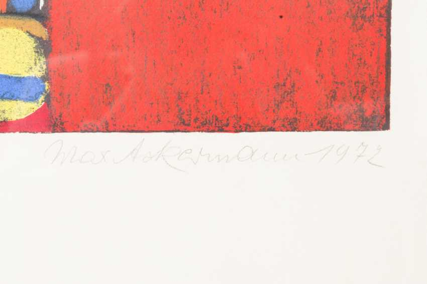 "ACKERMANN, MAX (Berlin 1887-1975 subitem tight Hardt, Prof.), ""composition in red"", - photo 3"