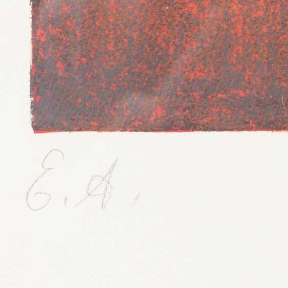 "ACKERMANN, MAX (Berlin 1887-1975 subitem tight Hardt, Prof.), ""composition in red"", - photo 4"