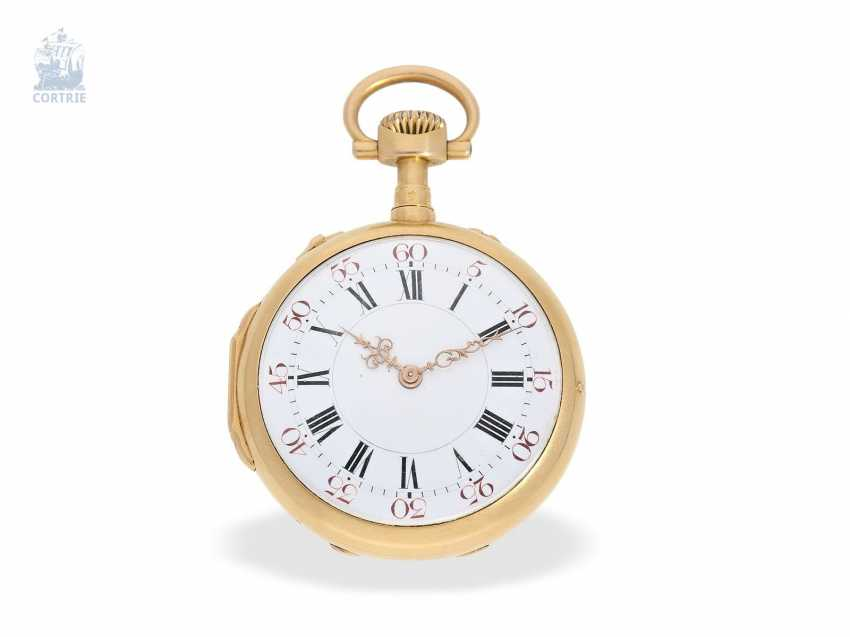 Pocket watch: very fine and extremely rare French Louis XVI-Style Pocket chronometer with original box, Maingourd Freres Le Mans No. 50653, CA. 1870 - photo 6