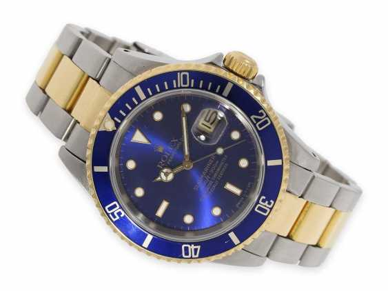 Watch: a vintage Rolex Submariner with a blue dial, Ref. 16613, steel/18K Gold, built in 1989 - photo 1