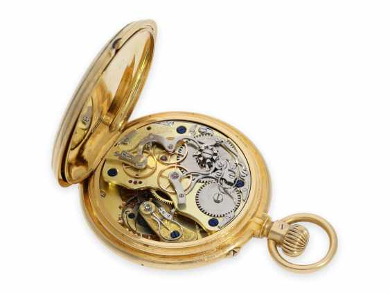 """Pocket watch: extremely rare early A. Lange & Söhne """"Krüssmann Chronograph"""" quality 1A with original box and stud book, the so-called Dead-Seconds Chronograph, No. 25449, Glashütte 1887 - photo 3"""