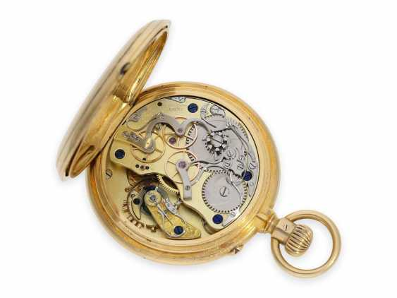 """Pocket watch: extremely rare early A. Lange & Söhne """"Krüssmann Chronograph"""" quality 1A with original box and stud book, the so-called Dead-Seconds Chronograph, No. 25449, Glashütte 1887 - photo 4"""
