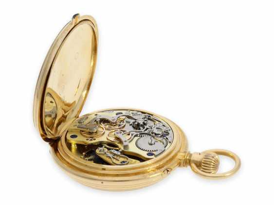 """Pocket watch: extremely rare early A. Lange & Söhne """"Krüssmann Chronograph"""" quality 1A with original box and stud book, the so-called Dead-Seconds Chronograph, No. 25449, Glashütte 1887 - photo 5"""