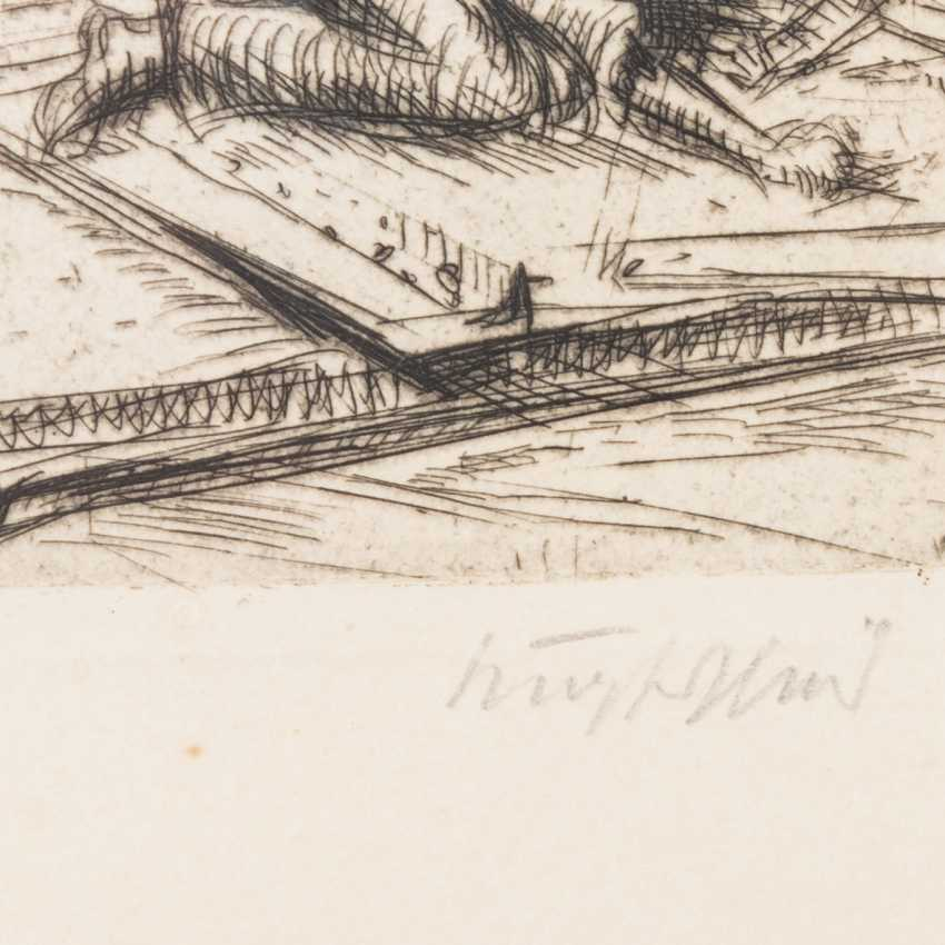 "ARTIST/19./20. Century, ""Mannheim, Shipyard"", - photo 3"