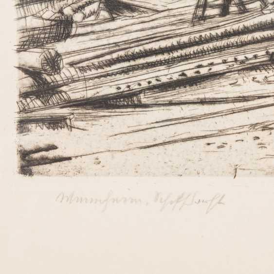 "ARTIST/19./20. Century, ""Mannheim, Shipyard"", - photo 4"