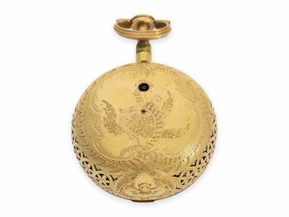 Montre de poche: exquise, anglais 22K unité double de l'Or/d'Émail Spindeluhr avec Répétition, Higgs & Evans N ° 9905, Londres, environ 1780 - photo 5