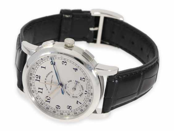 """Watch: very interesting, almost as new Investment-at, 50-piece limited edition A. Lange & Söhne """"1815 calendar week"""" in platinum, No. 19/50, Full Set with Box & papers - photo 9"""