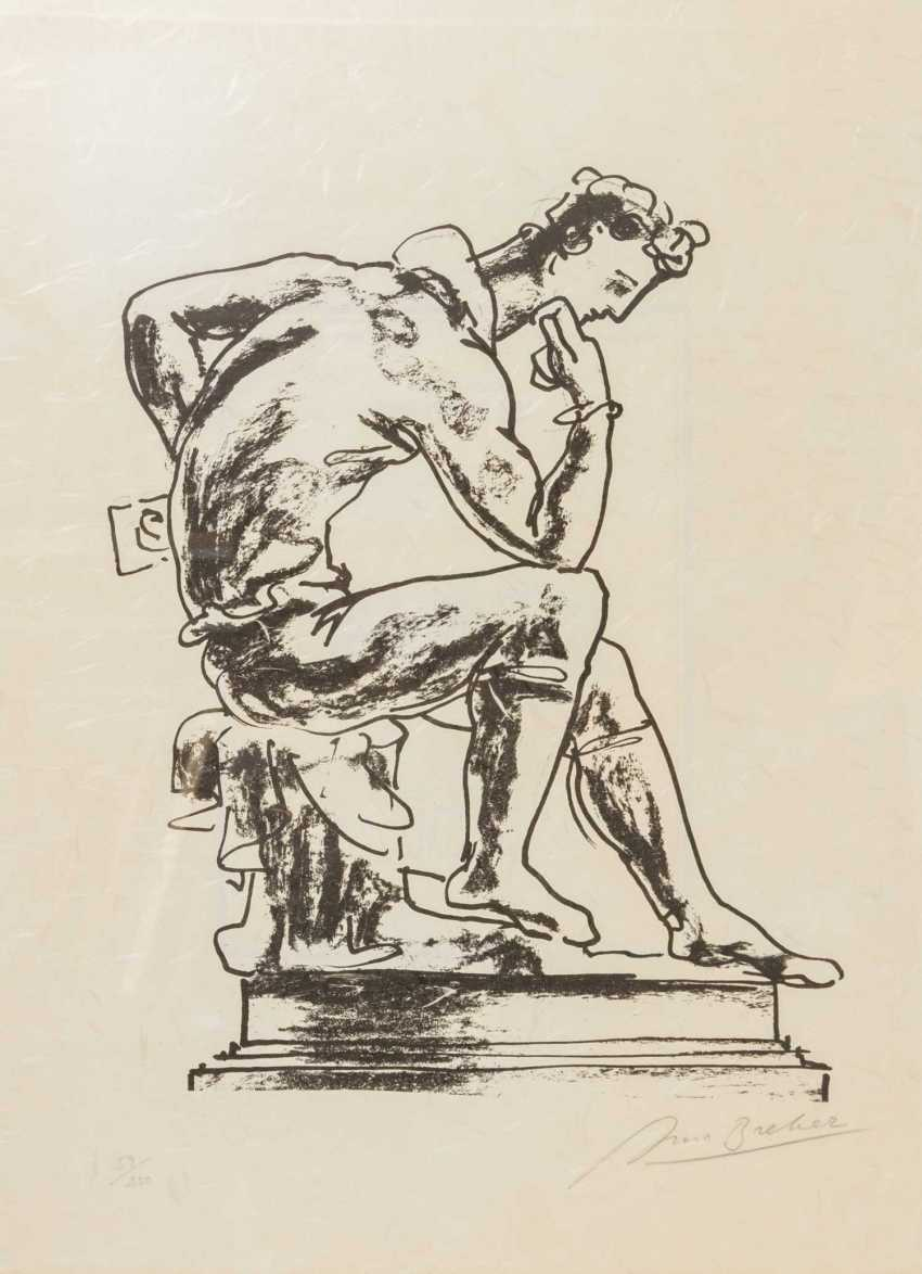 "BREKER, ARNO (1900-1991), ""On pedestal in a sitting thinker"", - photo 1"