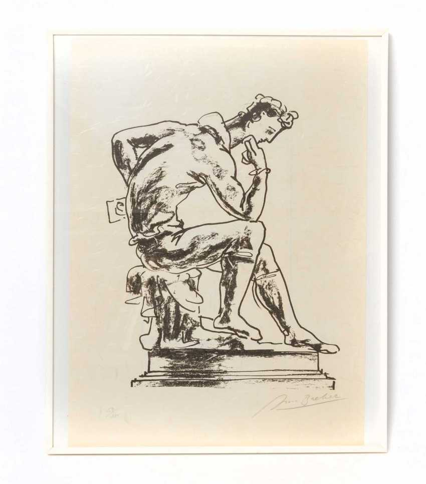 "BREKER, ARNO (1900-1991), ""On pedestal in a sitting thinker"", - photo 2"