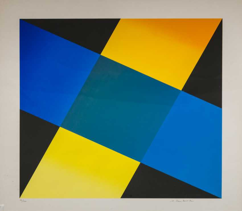 "STANKOWSKI, ANTON (1906-1998), ""Geometric composition in Blue, Yellow, and Black"", - photo 1"