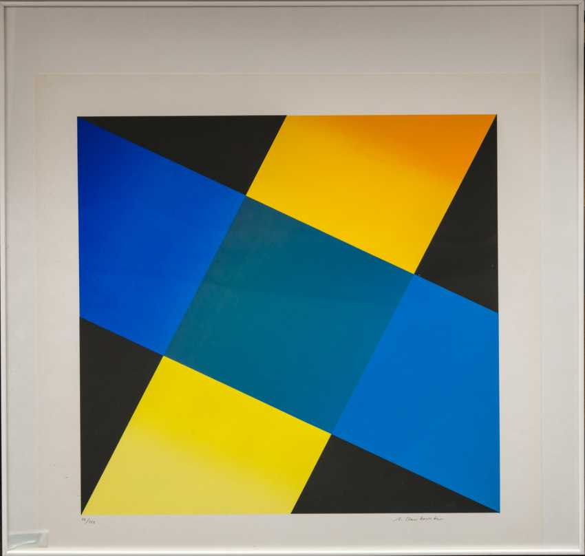 "STANKOWSKI, ANTON (1906-1998), ""Geometric composition in Blue, Yellow, and Black"", - photo 2"