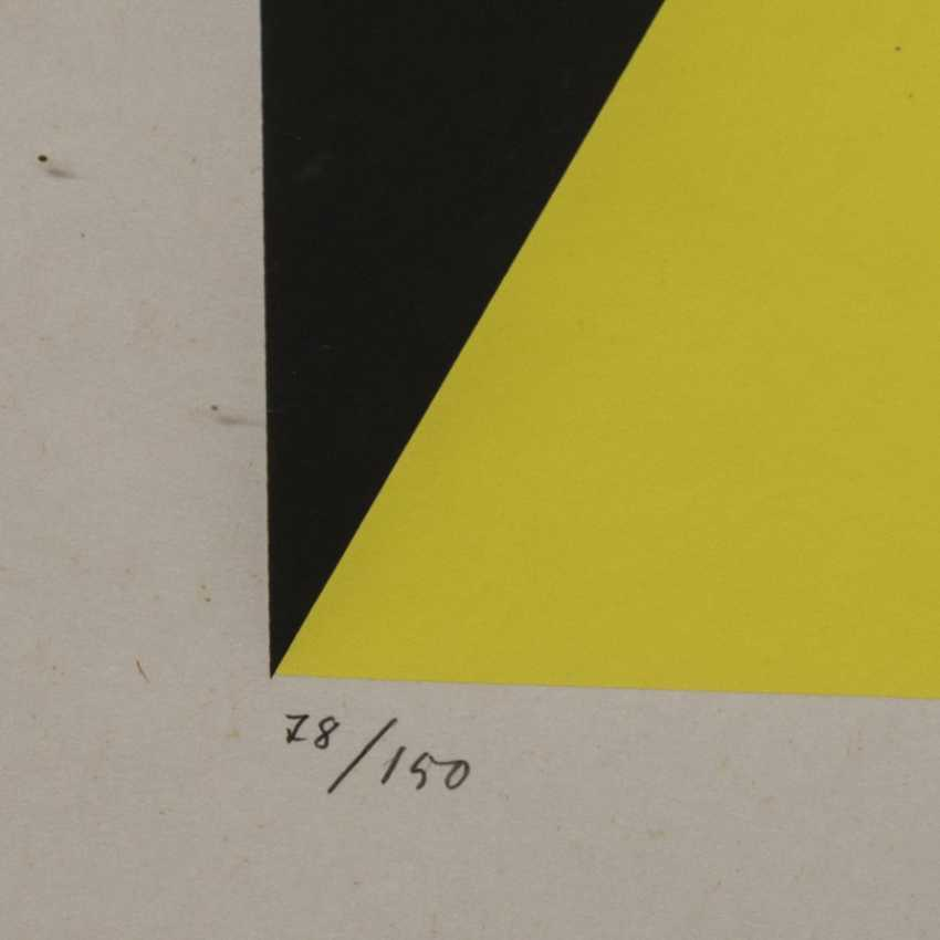 "STANKOWSKI, ANTON (1906-1998), ""Geometric composition in Blue, Yellow, and Black"", - photo 4"