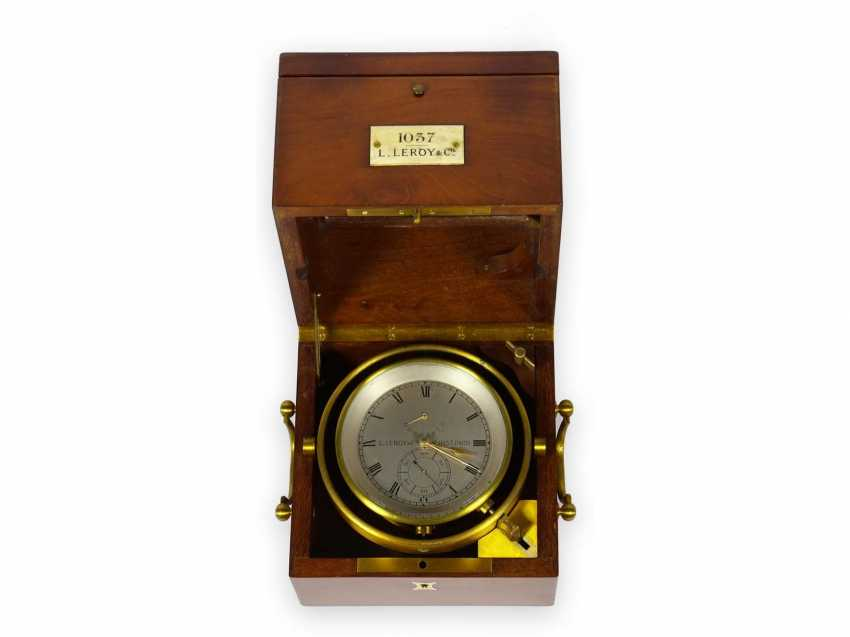 Marine chronometer: high-quality, extremely rare Louis Le Roy Paris marine chronometer with 49h power reserve, No. 1037, CA. 1900 - photo 1