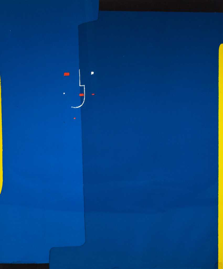"""ACKERMANN, MAX (Berlin tones 1887-1975 subitem tight Hardt, Prof.), """"Abstract composition in blue"""", - photo 1"""