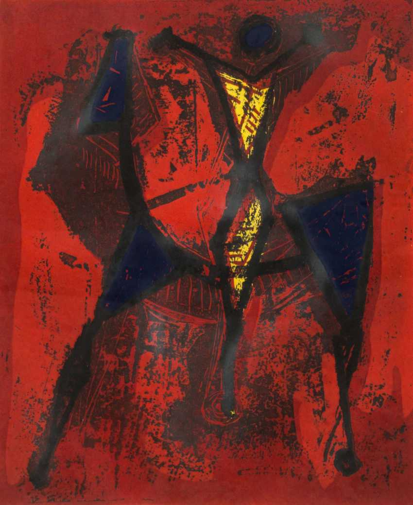 "MARINI, MARINO (Pistoia 1901-1980 ViareGelbgoldio, Italian sculptor, draughtsman and graphic artist), the ""Cavaliere"" - photo 1"