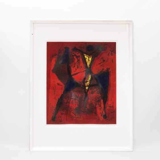 "MARINI, MARINO (Pistoia 1901-1980 ViareGelbgoldio, Italian sculptor, draughtsman and graphic artist), the ""Cavaliere"" - photo 2"