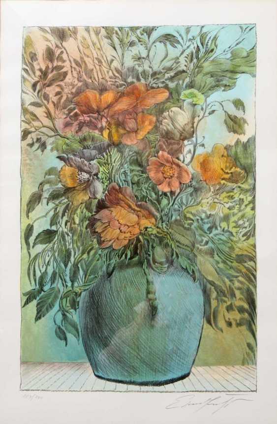 FUCHS, ERNST (1930-2015): Bumenstrauß in Vase, 20. Century, - photo 1