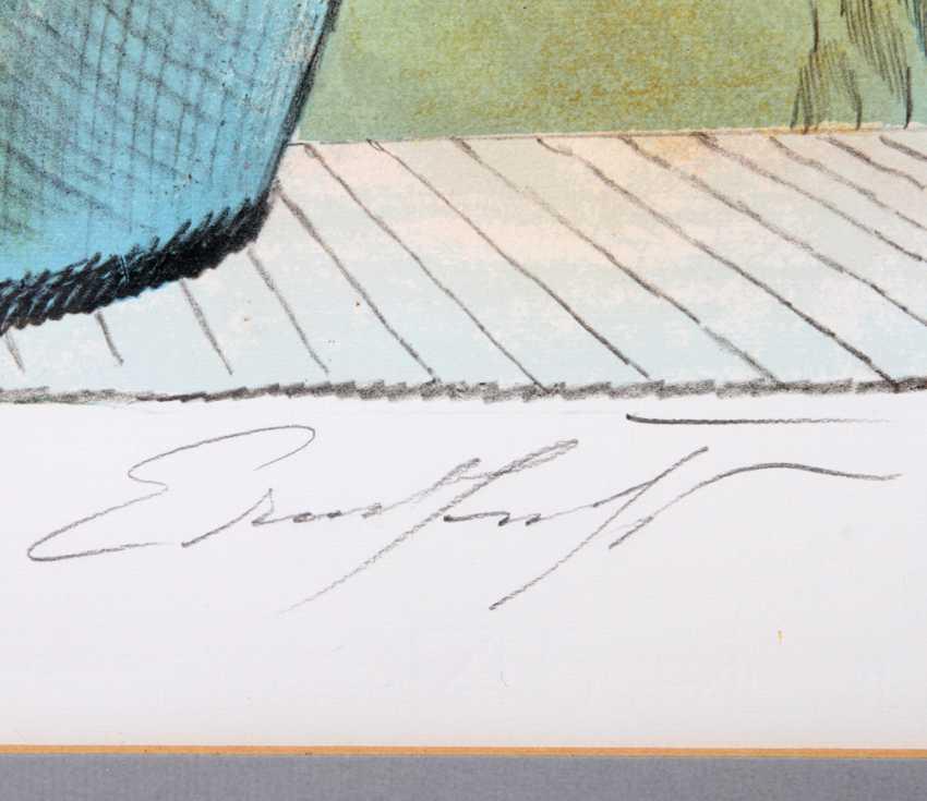 FUCHS, ERNST (1930-2015): Bumenstrauß in Vase, 20. Century, - photo 3
