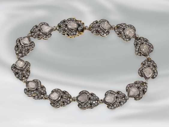 Bracelet: antique bracelet with rich diamonds, Gold and silver, probably 19th century. Century, probably Oriental - photo 2