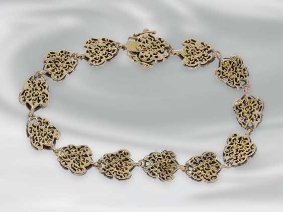 Bracelet: antique bracelet with rich diamonds, Gold and silver, probably 19th century. Century, probably Oriental - photo 3