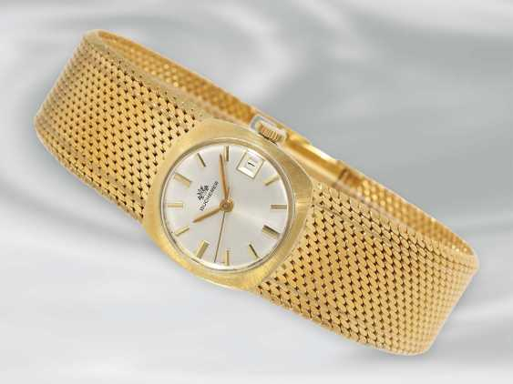 Wrist watch: high quality, rare Golden vintage Automatic ladies watch brand Bucherer, 18K Gold - photo 1