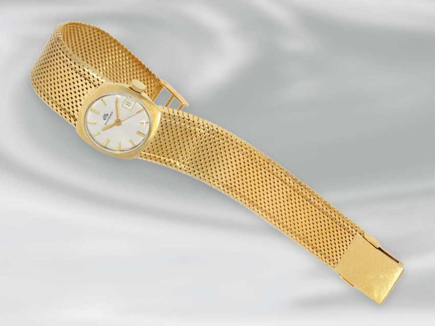 Wrist watch: high quality, rare Golden vintage Automatic ladies watch brand Bucherer, 18K Gold - photo 2