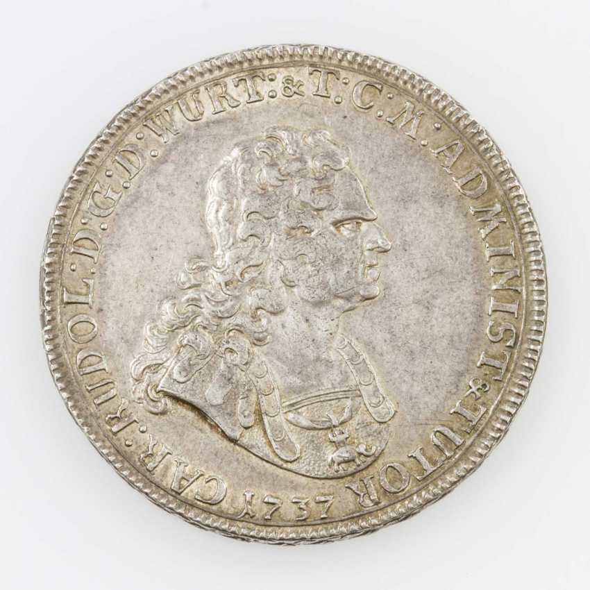 Württemberg Taler 1737, Karl Rudolf von Württemberg-new city, - photo 1