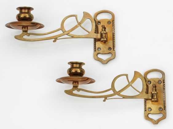 Pair Of Art Nouveau Piano Candlesticks - photo 1