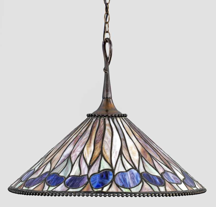 Art Nouveau ceiling lamp in Tiffany style - photo 1